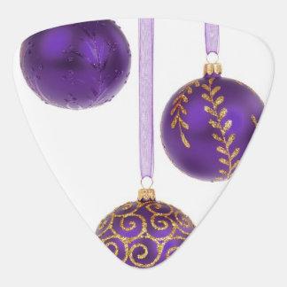 Winterberry Purple Christmas Ornaments Guitar Pick