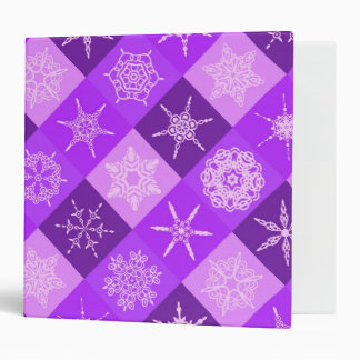 Winterberry Purple Snowflake Collection 3 Ring Binders