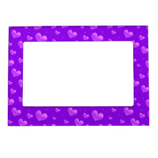 Winterberry Purple Valentine Hearts Magnetic Photo Frames