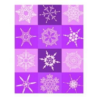 Winterberry Snowflake Collection Designer Custom Letterhead