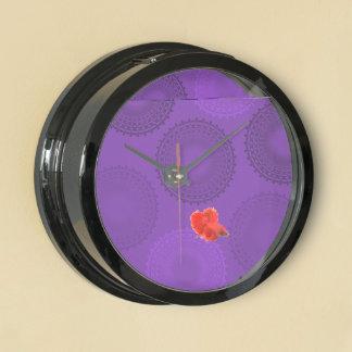 Winterberry Violet Lace Doily Aquavista Clocks