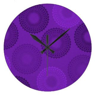 Winterberry Violet Lace Doily Clocks