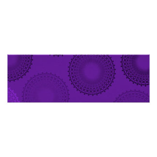 Winterberry Violet Lace Doily Print