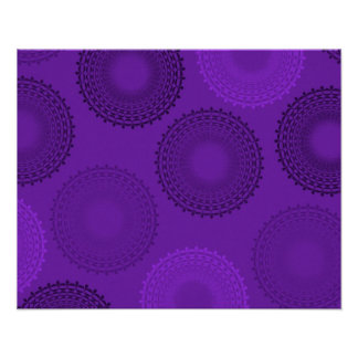Winterberry Violet Lace Doily Posters