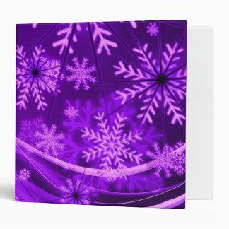 Winterberry Wonderland Snowflakes Vinyl Binder