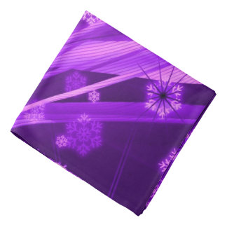 Winterberry Wonderland Snowflakes Purple Bandana