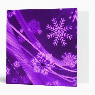 Winterberry Wonderland Snowflakes Purple Binders