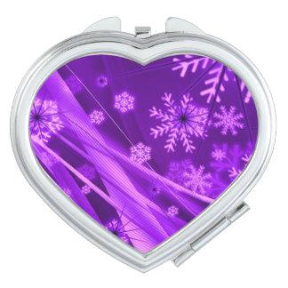 Winterberry Wonderland Snowflakes Purple Makeup Mirror