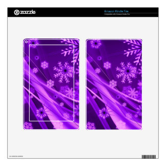 Winterberry Wonderland Snowflakes Decals For Kindle Fire