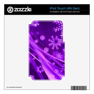 Winterberry Wonderland Snowflakes Skins For iPod Touch 4G