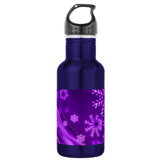 Winterberry Wonderland Snowflakes Water Bottle