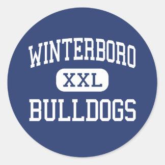 Winterboro - Bulldogs - High - Sycamore Alabama Classic Round Sticker