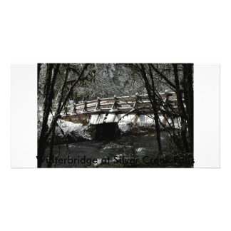 , Winterbridge at Silver Creek Falls Card