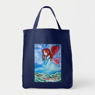Winterbringer fairy grocery bag