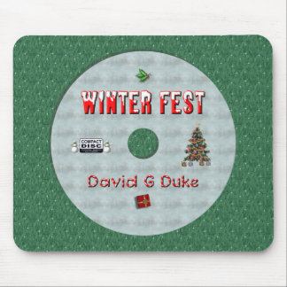 winterfest disk label mouse pad