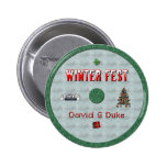 winterfest disk label pinback buttons