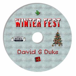 winterfest disk label statuette