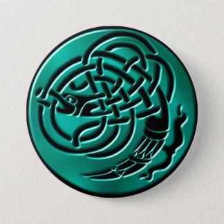 Wintergreen Celtic Dragon Knot Button