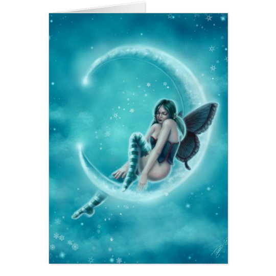 Wintergreen Moon Card