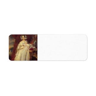 Winterhalter-Duquesa de Francisco de Orlean con su Etiquetas De Remite