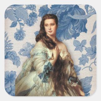 Winterhalter's Madame Rimsky-Korsakov Square Sticker
