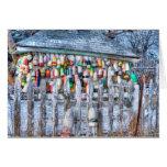 Wintering Buoys Greeting Card