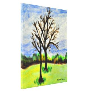 Wintering Pecan Trees in Georgia Canvas Print