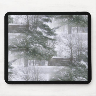 Winterland Snowtrees Mouse Pad