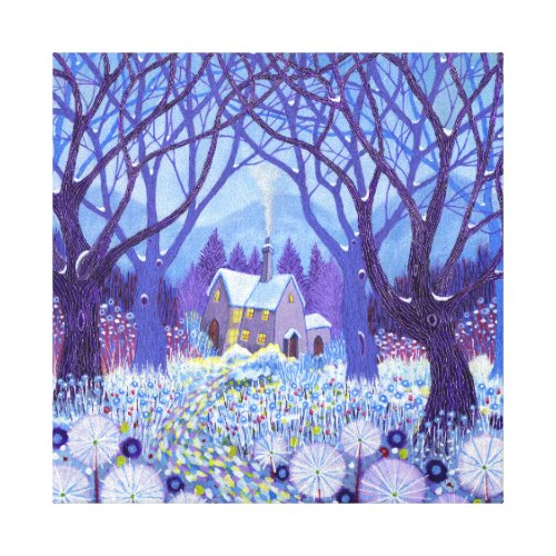 Winterlands 2012 canvas print - pretty winter floral wall art