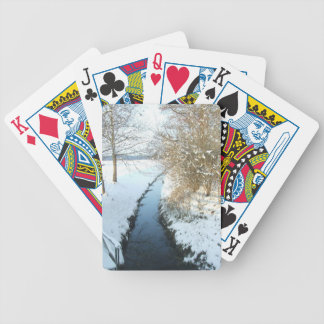 winterlandschaft in Bayern Bicycle Playing Cards