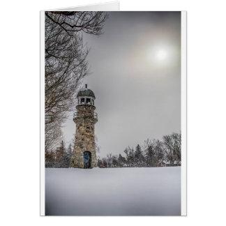 winterlighthouse tarjeta de felicitación