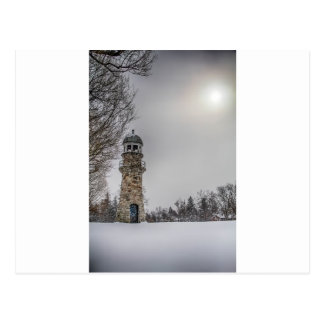 winterlighthouse tarjeta postal