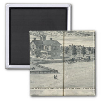 Winters area residences, farms 2 inch square magnet