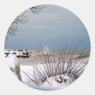 Winter's Beauty Classic Round Sticker