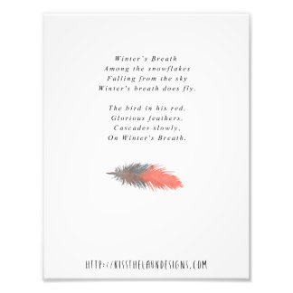 Winter's Breath - 8.5 x 11 Poetry Printable Photo Print