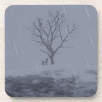 Winter's Chill Cork Coaster