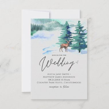 Winters Come Mountain Wedding