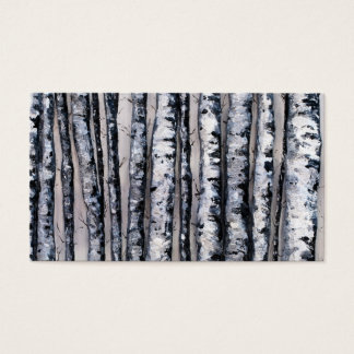 Winter's Contrasts by Fine Artist Alison Galvan Business Card