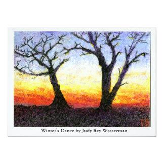 Winter's Dance 5.5x7.5 Paper Invitation Card