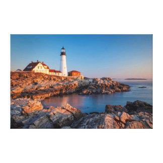 Winters dawn at Portland Head Lighthouse Canvas Print