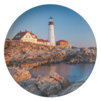 Winters dawn at Portland Head Lighthouse Plate