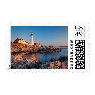 Winters dawn at Portland Head Lighthouse Postage