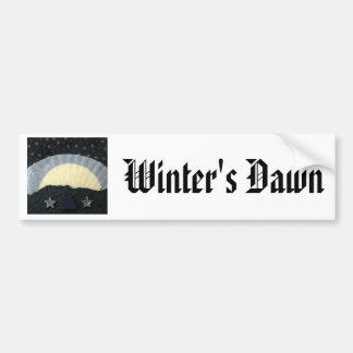 Winter's Dawn - collage Car Bumper Sticker