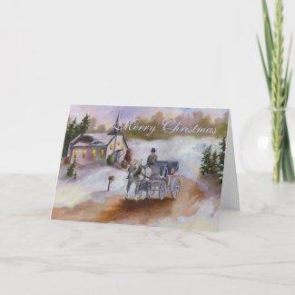 Winters Dream Christmas Card card