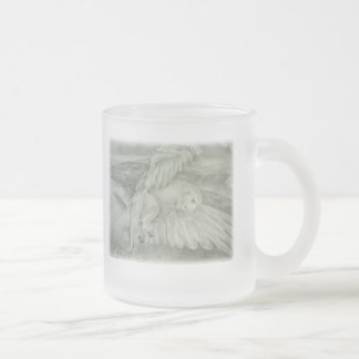 'Winter's Dream' Frosted Glass Coffee Mug