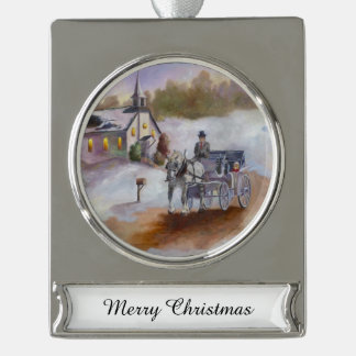 Winter's Dream Silver Plated Banner Ornament