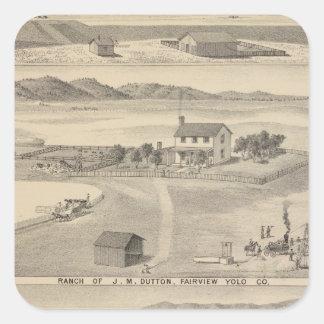 Winters Dutton ranch Square Stickers