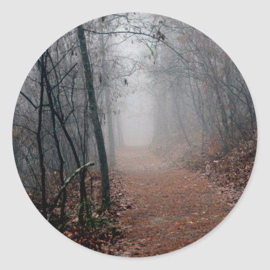 Winters Fog - No End in Sight on the Trail Gifts Classic Round Sticker