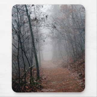Winters Fog - No End in Sight on the Trail Gifts Mouse Pad