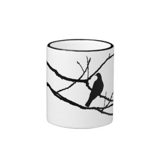 Winter's Hand And Spring's Dove Ringer Coffee Mug